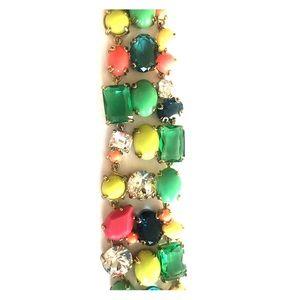 j crew multicolor stone crystal bracelet